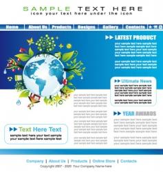 environmental website template vector image