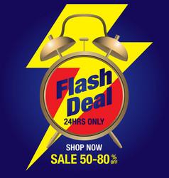 Flash deal flash sale special offer banner vector
