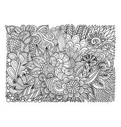 floral background july 2017 vector image
