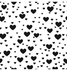 Heart black and white print background for website vector image vector image