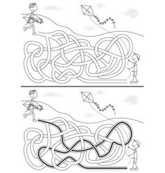 Kite maze vector image