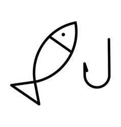 outline icon of fishing vector image