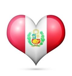 Peru Heart flag icon vector image