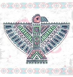 Tribal native American set of symbols vector image vector image