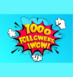 1000 followers thank you for media like vector