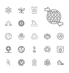 22 ecology icons vector