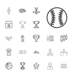 22 team icons vector