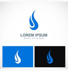 abstract water drop company logo vector image