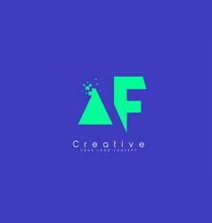 Af letter logo design with negative space concept vector