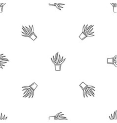 aloe housepot pattern seamless vector image