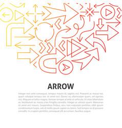 arrow line concept vector image