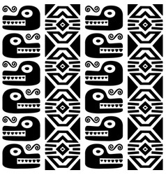 aztec animals mayan snake seamless pattern vector image