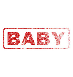 Baby rubber stamp vector