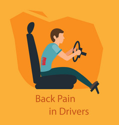 Back pain in drivers vector