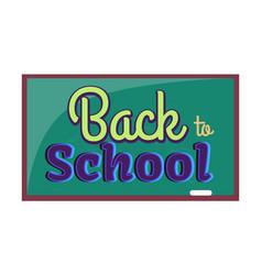 Back to school inscription written on blackboard vector