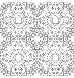 Black white seamless pattern Decorative ornament vector image