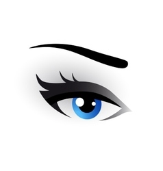 Blue eye makeup vector