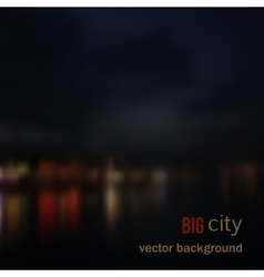 Blurred defocused lights of night city vector image