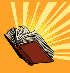 book shines light knowledge vector image