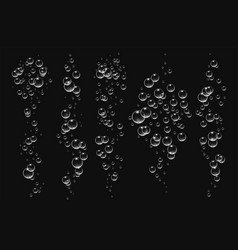 Bubbles under water on black vector