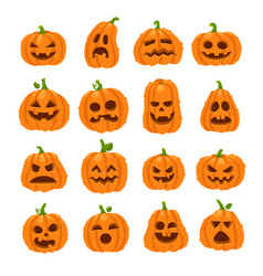 Cartoon halloween pumpkin orange pumpkins with vector