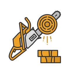Chainsaw color icon vector