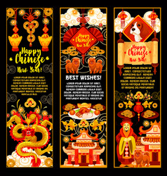 Chinese new year banner for asian spring festival vector