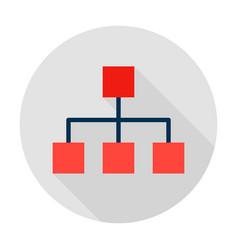 classification graph circle icon vector image