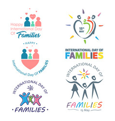 Colorful design international day families vector