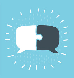 communication with speech bubble vector image