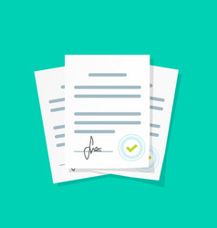 contract documents pile stack vector image
