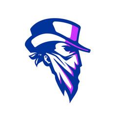Cowboy logo head vector