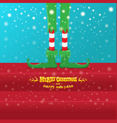 creative merry christmas greeting card with vector image