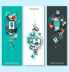 Digital Medicine Banners Vertical vector