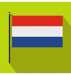 Flag of the Netherlands icon flat style vector image