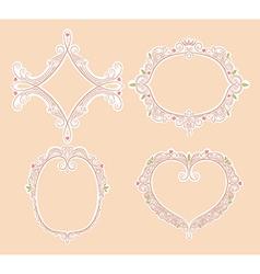Four cute frames vector