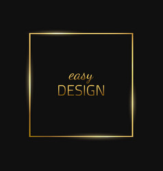 Frame-empty-gold-black vector