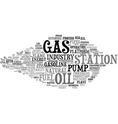 Gas word cloud concept vector