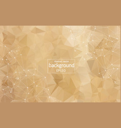 Geometric brown polygonal background molecule and vector