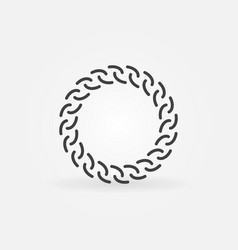 Golden chain round line icon or design vector
