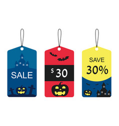 halloween tags isolate vector image