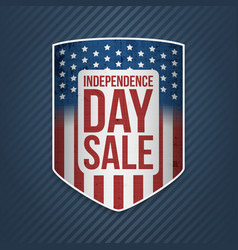 independence day sale usa realistic banner vector image