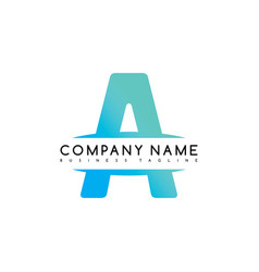 Initial letter a exclusive brand company template vector