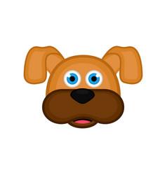 isolated cute dog avatar vector image