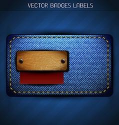 Jeans label design vector