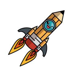 kawaii pencil icon vector image