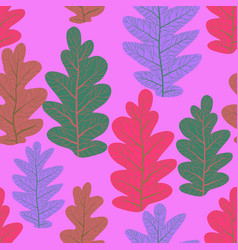leaves nature pattern vector image