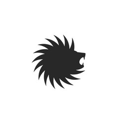 lion head logo circle shape tattoo great design vector image