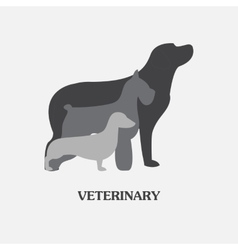logo design template for pet shops and vector image