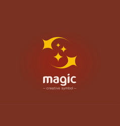 Magic show creative symbol concept sparkle star vector